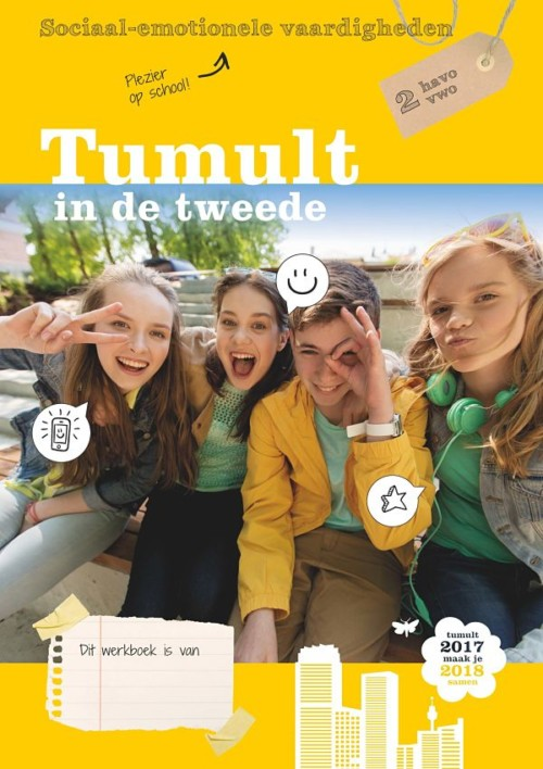 Omslag Tumult in de tweede sociaal-emotionele vaardigheden 2 havo vwo