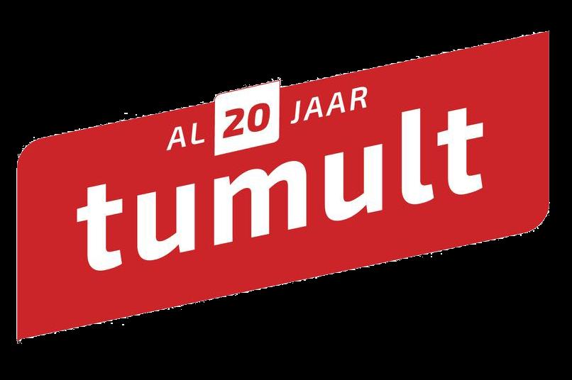 Logo tumult 20 jaar